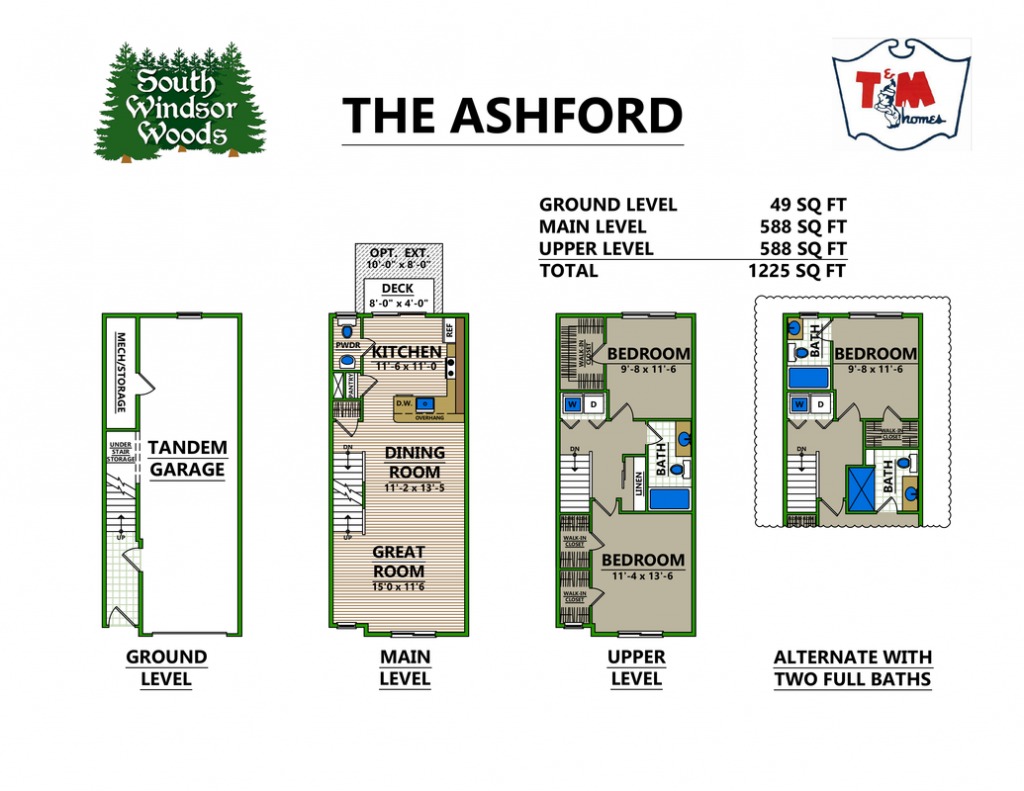 The Ashford - floor plans